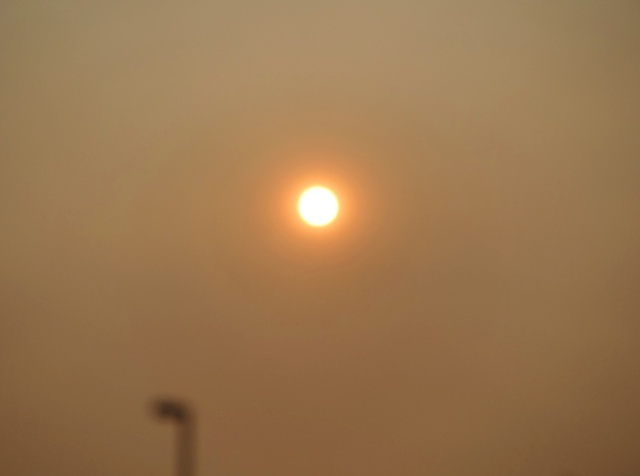 Red Sun, poor air quality, fires, bay area