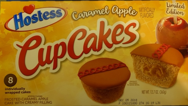 Caramel Apple CupCakes, Hostess snack cakes, fall food
