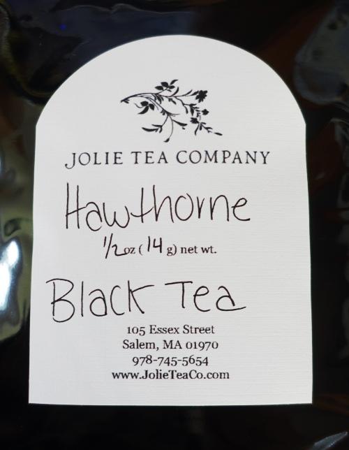 Hawthorne Black Tea, Jolie Tea Company, Salem, Massachusetts
