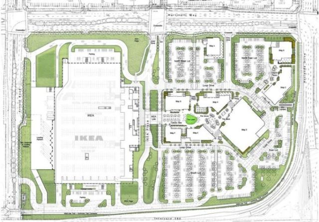 IKEA, Dublin, California, Ground Plan, Underground Parking