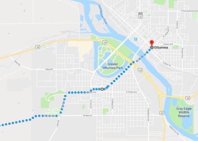 Ottumwa Iowa, Virtual Hike