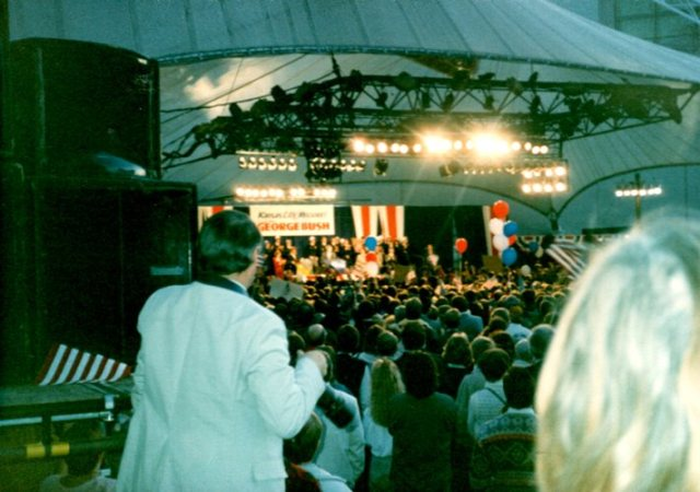 Kansas City Crown Center, President Bush, 1988 Presidential Campaign
