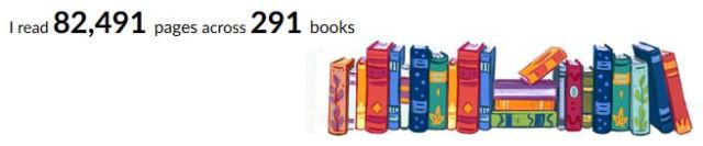 Books read, yearly total, good reads, bookshelf