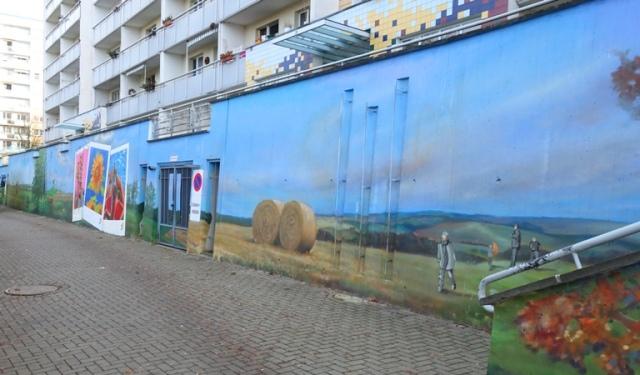 Wall Art, Four Seasons, Street Art, Mural