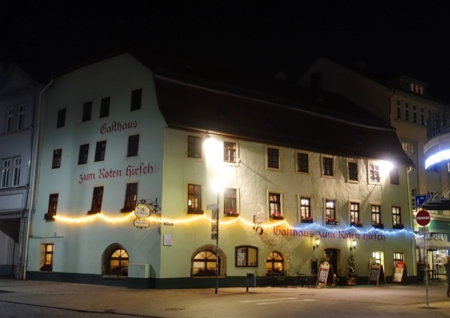 Old Restaurant, Roter Hirsch, Jena, Germany, 500 year old restaurant