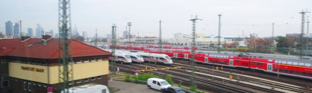 Frankfurt train yard, trains, train travel