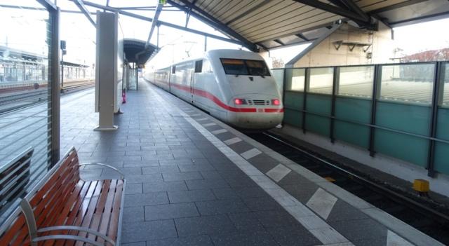 Erfurt, Germany, Trains, ICE, train travel