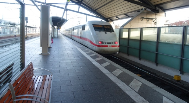 Erfurt, Germany, Trains, ICE, train travel