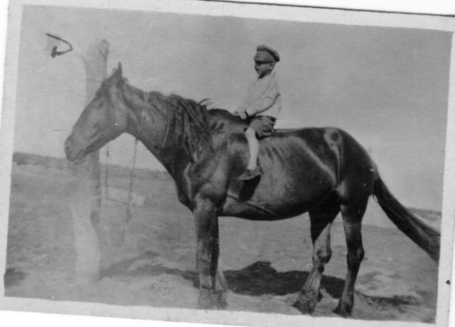 Bone and Walter, Horse and Child, Old Time Photography