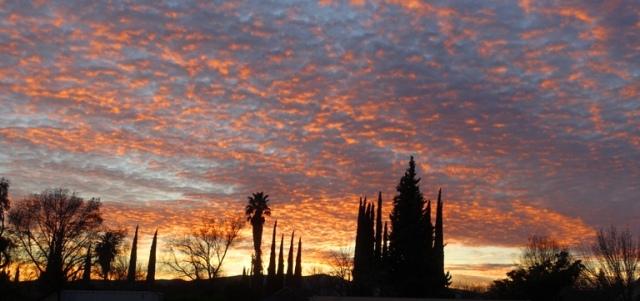 colorful sky, sunset, sunday night, red sky