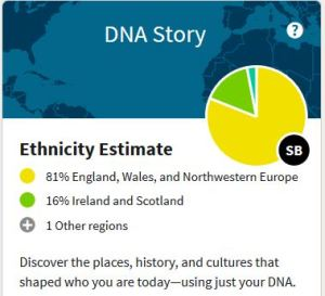 DNA Results, England, Irish, Scottish, Ethnicity