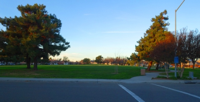 zanussi park, tracy california, evening walk