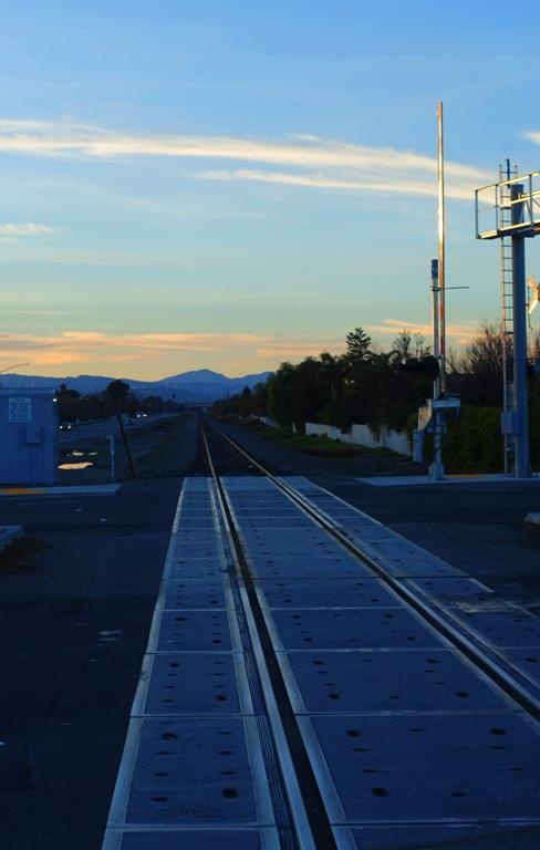railroad tracks, sun setting, altamont