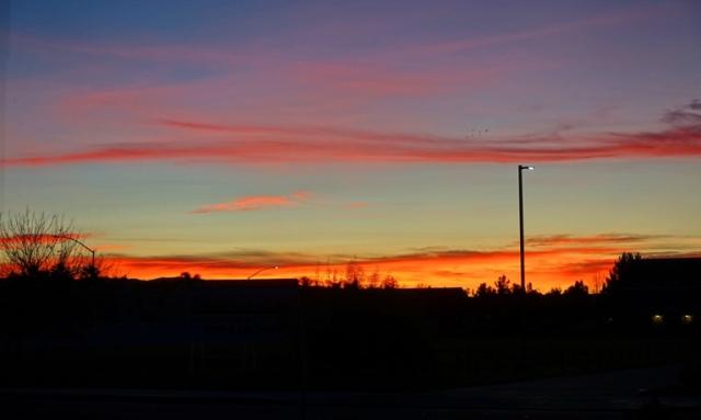 Sunset, evening walk, tracy, california