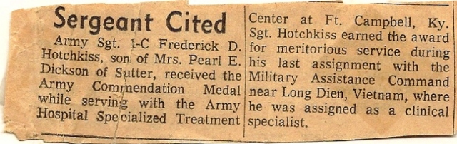 Great Uncle Fred, Commendation, Medal, Army, Nurse