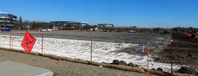Parking lot, grading, fine grading, Zeiss Innovation Center