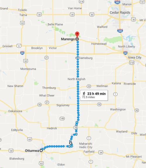 Marengo, Iowa, Virtual Hike,  Ottumwa, Iowa