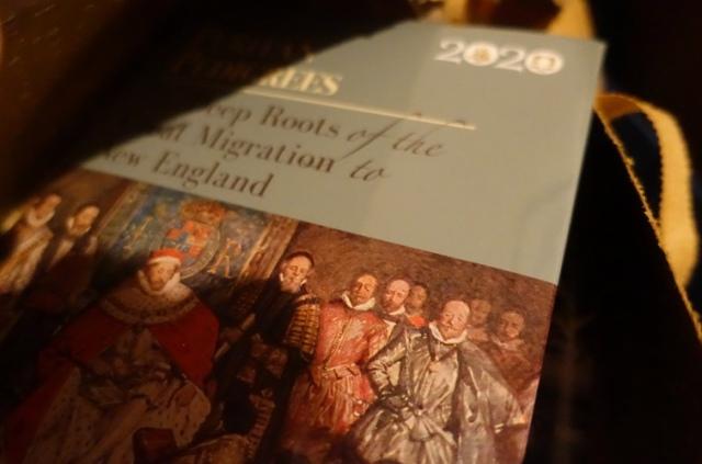 Opening package, book reveal, Puritan Pedigrees, Robert Charles Anderson