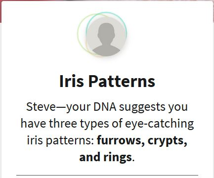 Iris Patterns Traits, DNA, Ancestry DNA