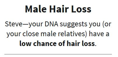 Male Hair Loss, Traits, Ancestry DNA