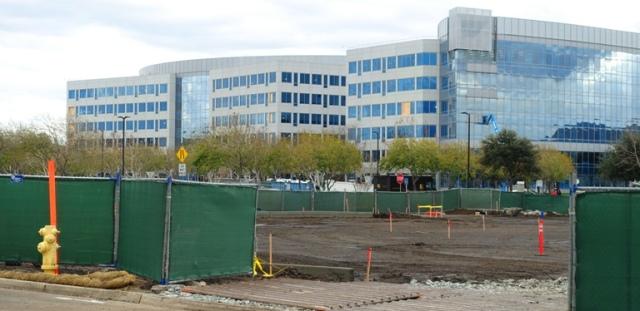 concrete curbs, construction, parking lot