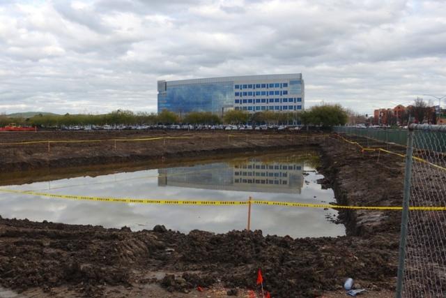 Water retention pond, Zeiss Innovation Center