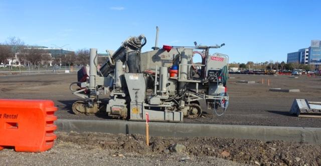 Curb Machine, Concrete, construction