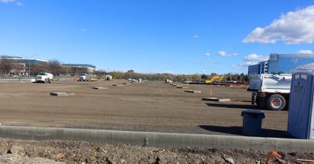 Construction, parking lot, storm drains