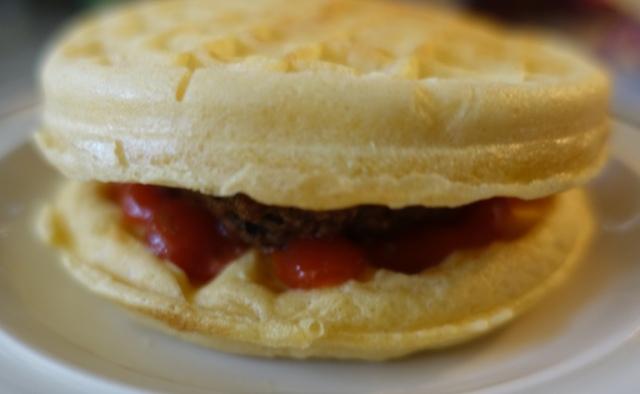 Breakfast Burger, AOC Burger Challenge, Waffles and Burger
