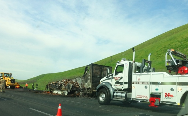 Altamont Commute, Truck Fire, Bad Traffic
