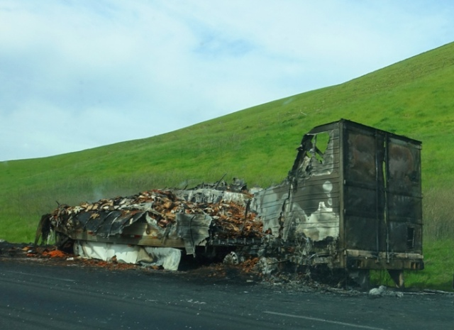 Burnt Bacon, Altamont Fire, Truck Burnt, Commute nightmare, Breakfast Commute
