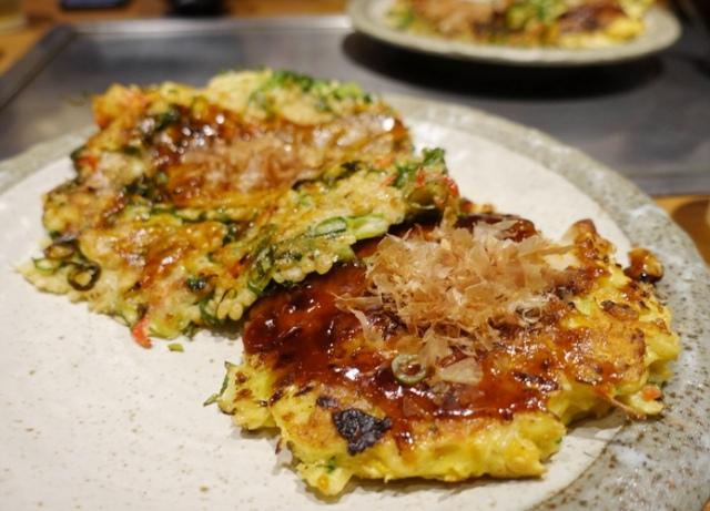 okonomiyaki, savory pancake, osaka, japanese food