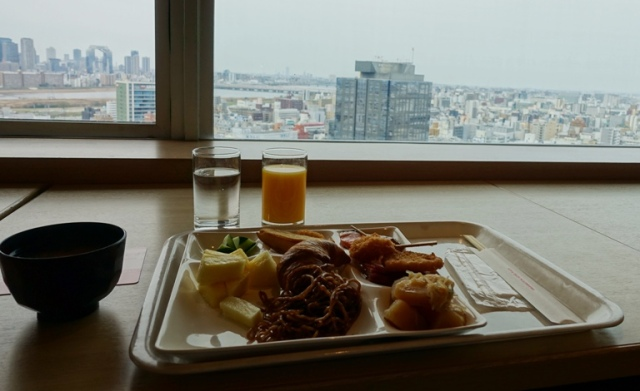 Breakfast, 23rd floor, Osaka, Japan, Japanese breakfast