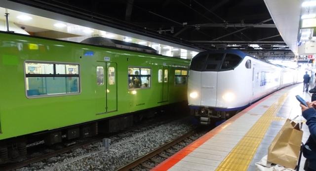 airport train, Kansai airport, KIX, Osaka