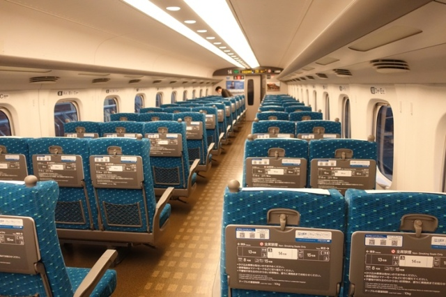 Train seats, shinkansen, japan, high speed rail