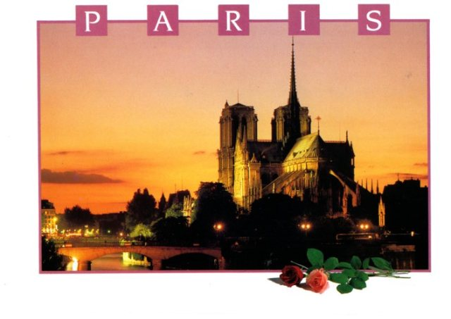 Notre Dame, Paris, Fire, Memories, Postcard