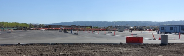 Zeiss Innovation Center, Parking Lot, construction