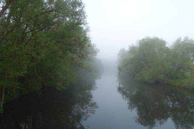 fog on river, valley, travel, morning
