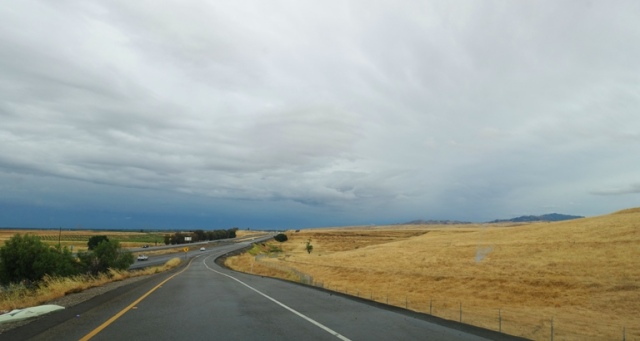 May rain, california, Interstate, On Ramp, rain clouds