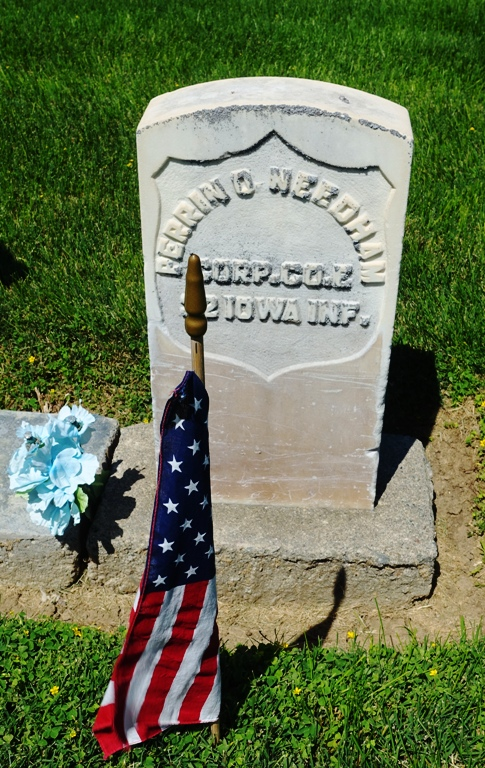 Perrin Needham, Civil War, Iowa Infantry, Memorial Day