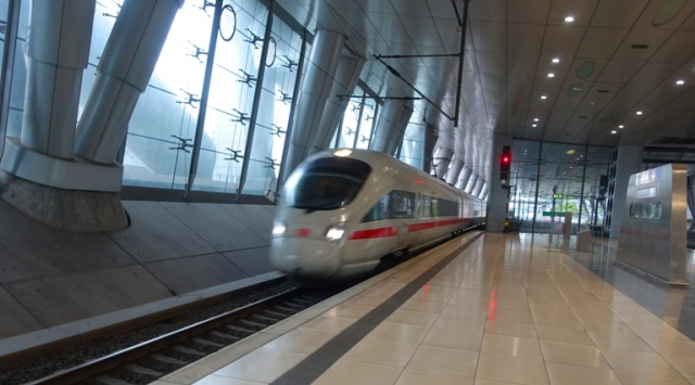 ICE train, German trains, Frankfurt Airport station
