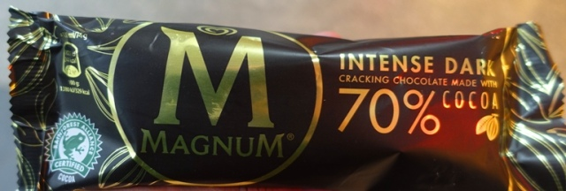 Magnum Bar, Intense Dark, chocolate, ice cream bar