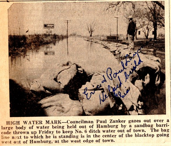 Hamburg, Iowa, Flood, Historic Flood, West Ditch