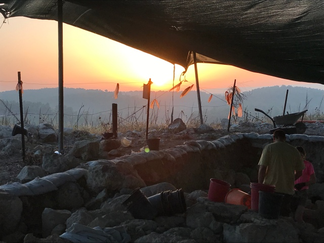 Lachish valley, israel, sunrise, khirbet al-Ra'i, ziklag