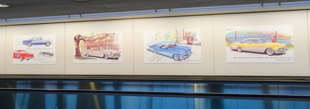 50s cars, SFO Museum, SFO, old cars