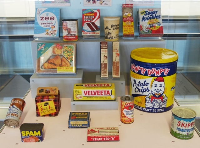 50s food packaging, velveta, skippy, packaging