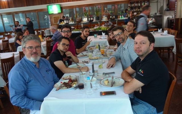 churrascaria, Brazilian BBQ, students, lunch, rodizio, good lunch