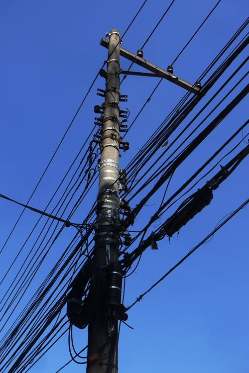 power lines, data lines, sao paulo, brazil