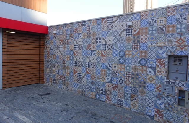 Sao Paulo, courtyard, pizza restaurant, tile