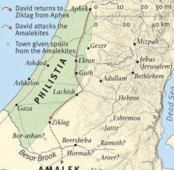 ziklag, philistines, King David, Aphek to Ziklag